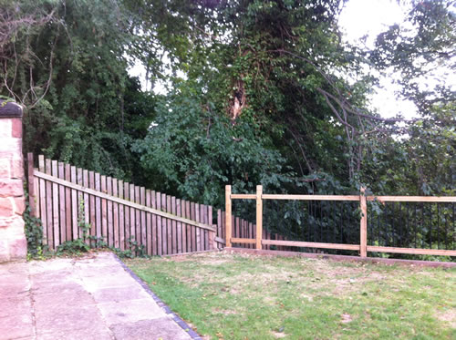 gardens cleared in nottingham
